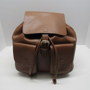 Brown Orange Neiman Marcus Leather Back Pack